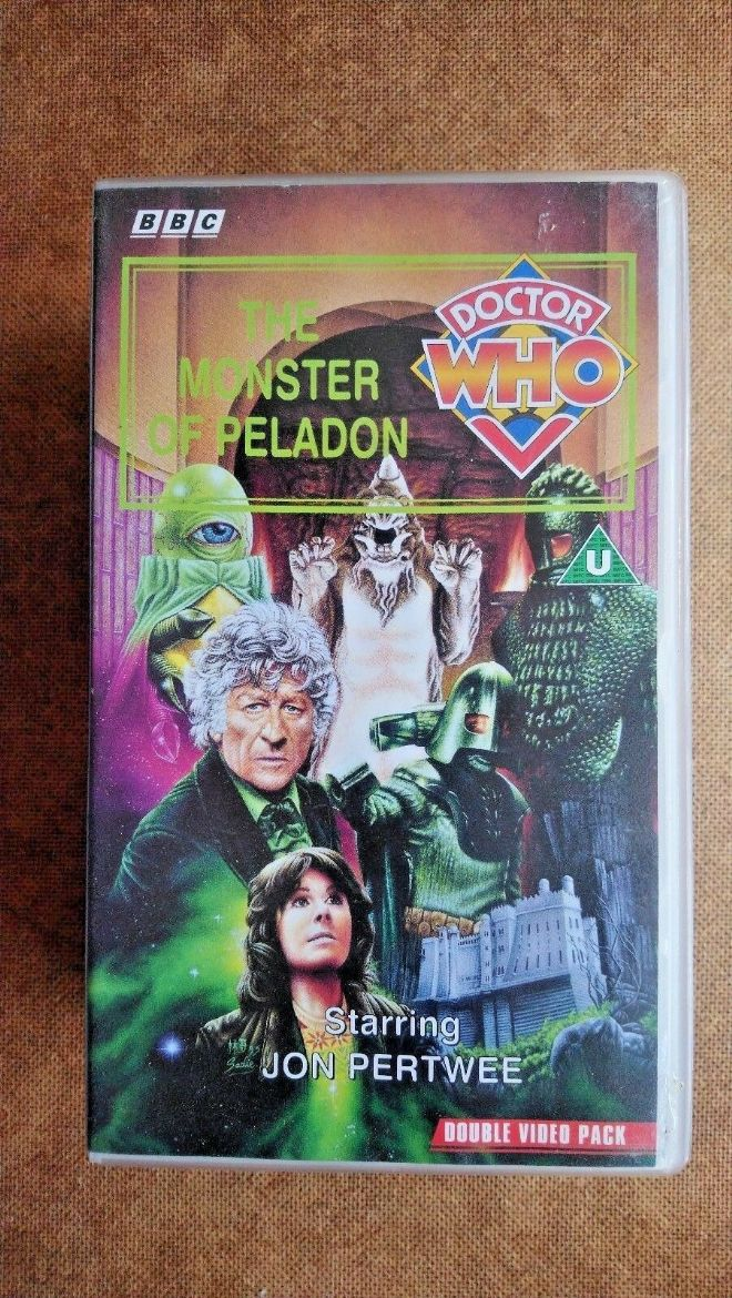 Doctor Who - The Monster Of Peladon (VHS, 1995, 2-Tape Set, Double Pack)